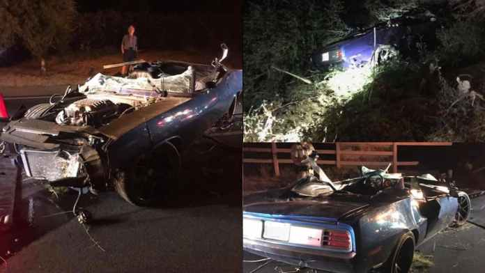 Image result for CAR CAREENS OFF ROAD INTO DITCH ... Kevin & Driver Suffer Major Injuries