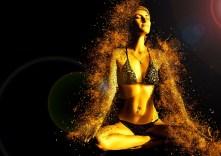 Yoga classes north austin - gold woman