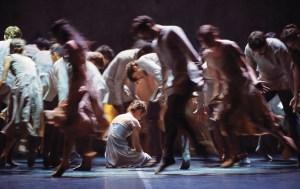 English National Ballet's Alina Cojocaru and artists in Akram Khan's Giselle   Photo: Laurent Liotardo