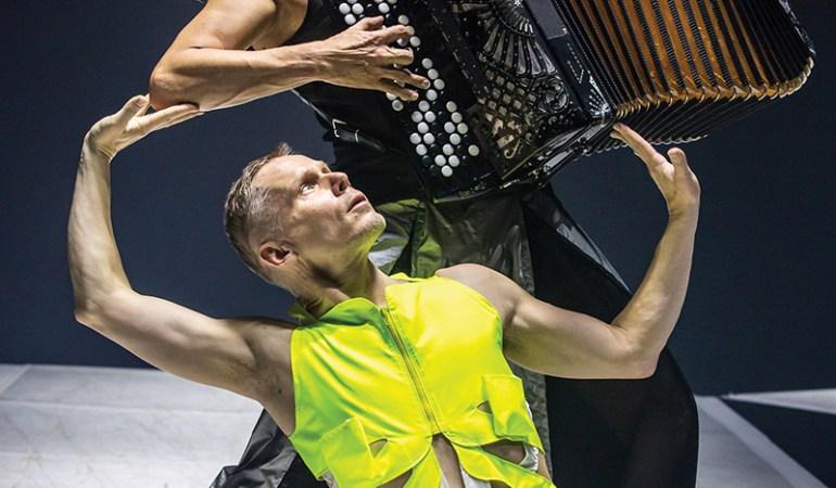 Tero Saarinen and accordionist Kimmo Pohjonen in Saarinen's Breath Photo: Mikki Kunttu