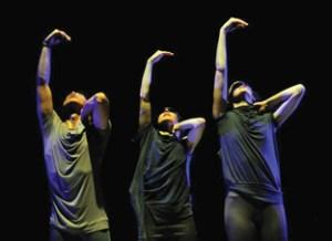 Dancers Dancing's Antonio Somera, Vanessa Goodman and Bevin Poole in Judith Garay'sThe Fine Line ~ twisted angels Photo: Chris Randle
