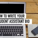 How to write a student assistant bio
