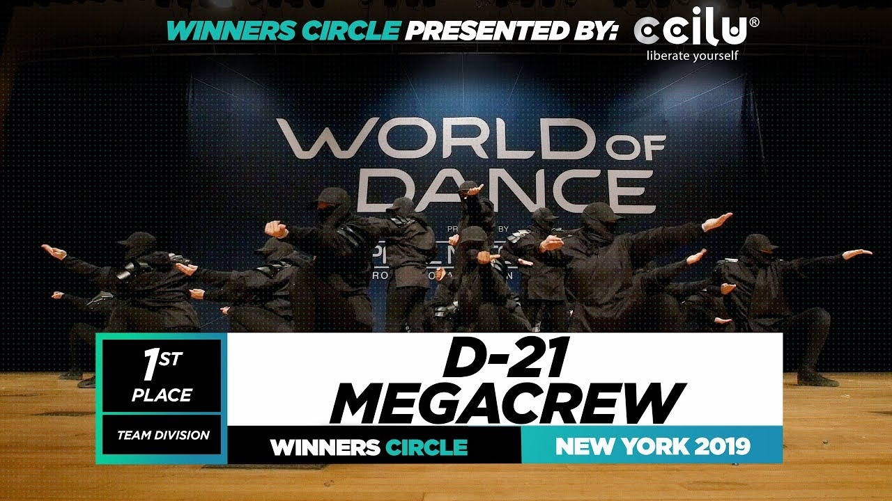 D-21 MEGACREW | 1st Place Team | Winners Circle | World of Dance New York 2019 | #WODNY19