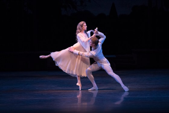 "Sterling Hyltin and Chase Finlay in ""La Sonnambula."" Photo © Paul Kolnik"