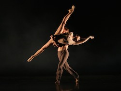 Clare Morehen and guest artist Keian Langdon in Nils Christe's Short Dialogues - Flourish 2014.