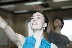 Queensland Ballet Principal Dancer Clare Morehen in Cinderella rehearsals 2013. Photo David Kelly.