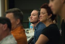 Kai Carrier watching rehearsals for 'Priscilla Queen of the Desert'. Photo courtesy of Norwegian Creative Studios.