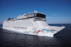 The Norwegian Epic. Photo courtesy of Norwegian Cruise Line.