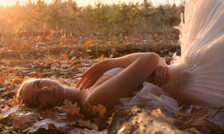 Dancer in the autumn leaves