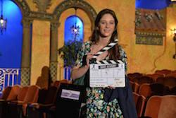 Xenia Goodwin on set of Dance Academy movie