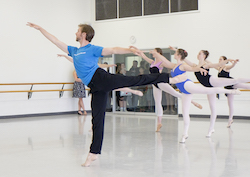 The Australian Ballet's Ty King-Wall leads a ballet class at Dance 17. Photo courtesy of RAD.