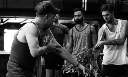 Stephen Page (left). Photo courtesy of Bangarra Dance Theatre.
