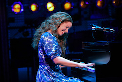 Chilina Kennedy as Carole King in the Broadway production of 'Beautiful: The Carole King Musical'. Photo by Joan Marcus.
