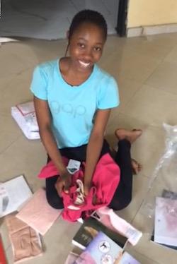 Perla Anthony from Nigeria. Photo courtesy of Josephine Woodberry.