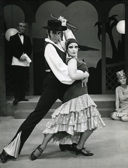 'TheBoyfriend', 1968 With Noel Tovey and Suzanne Kerchiss Comedy Theare. Photo courtesy of Tovey.