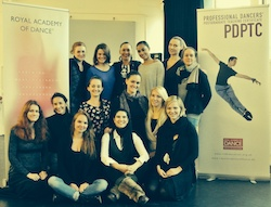 Fiona Hulands with fellow PDPTC students. Photo courtesy of Hulands.