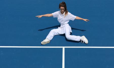 Atlanta Eke The Tennis Piece. Photo by Tim Birnie
