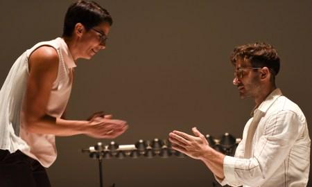 Gideon Obarzanek's 'Recital'. Photo by Heidrun Lohr.