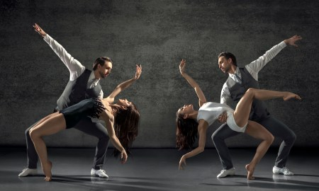 RNZB dancers Paul Mathews, Nadia Yanowsky and Katherine Minor in 'Black Swan, White Swan'. Photo by Ross Brown.