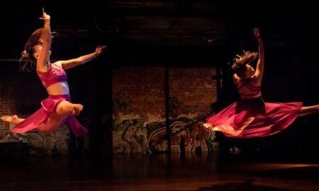 Ebony Bullard and Ellie Mulcahy in FIIT's 'Ashes'. Photo by Ben Seyer.