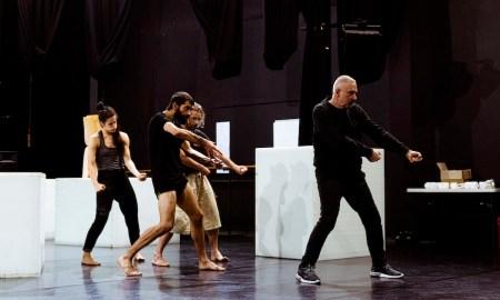 ADT rehearsing Garry Stewart's 'South'. Photo by Sven Kovac.