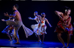 Waangengo Blanco, Yolanda Lowatta and Tara Gower of Bangarra. Photo by Jeff Tan.