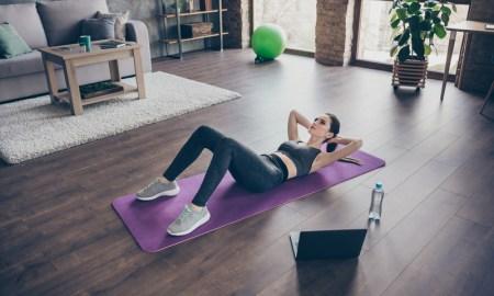 Pilates cross-training at home.