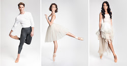Telstra Ballet Dancer Awards 2020 Nominees Nathan Brook, Imogen Chapman and Jasmin Durham.