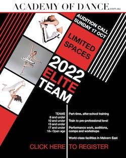 Academy of Dance Elite audition.
