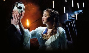 John Owen-Jones as the Phantom and Katie Hall as Christine in 'The Phantom of the Opera' UK Tour. Photo by Michael Le Poer Trench.