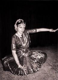 """Elena Fiskovets in """"Ganesha Natyalaya"""" Dance Institution, Delhi, India, 1996"""