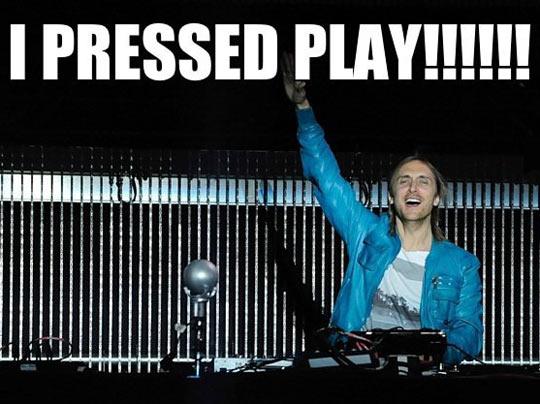 David Guetta Presses Play