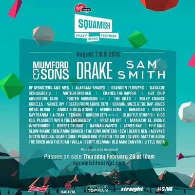 squamish music festival lineup