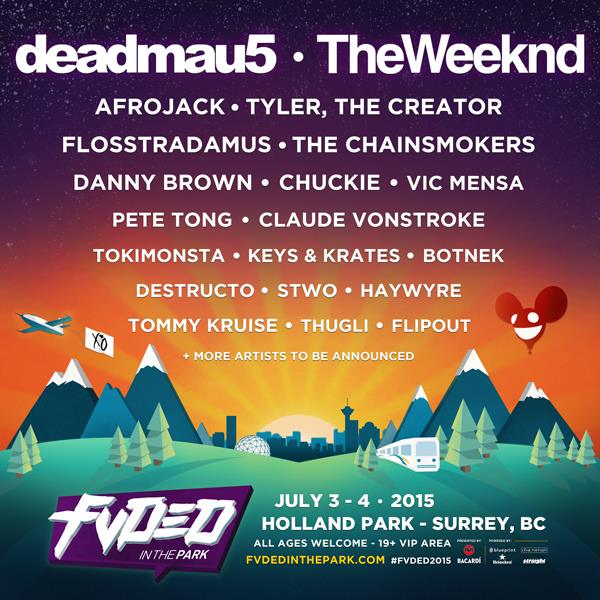Fvded in the park brings us yet another titanic summer lineup fvded in the park 2015 lineup malvernweather Images