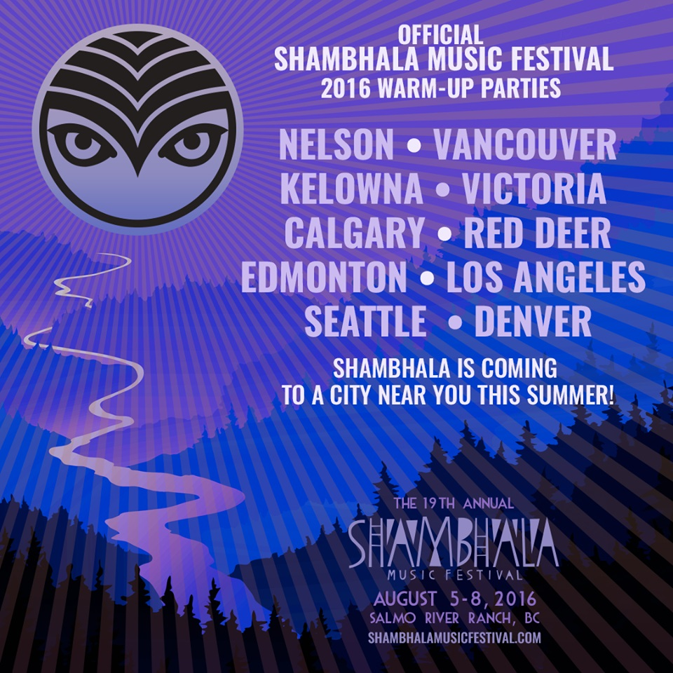 shambhala 2016 warm-up parties