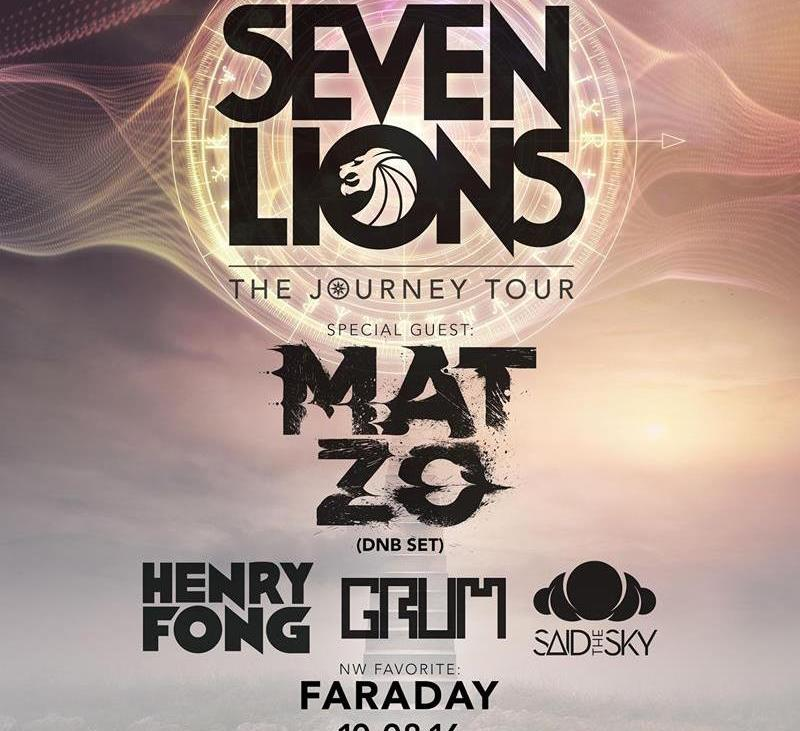Seven Lions - Support lineup for Seattle stop