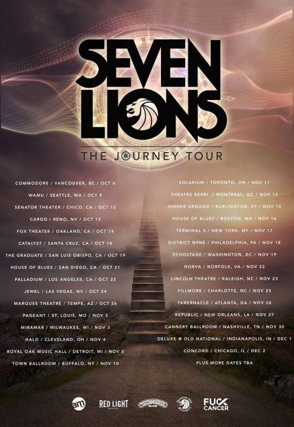 Seven Lions The Journey Tour list