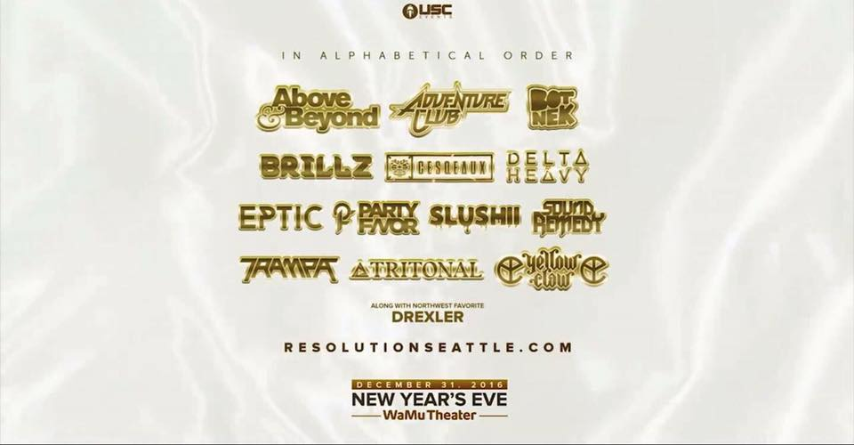 Resolution's lineup includes Above & Beyond, Brillz, Tritonal, and more