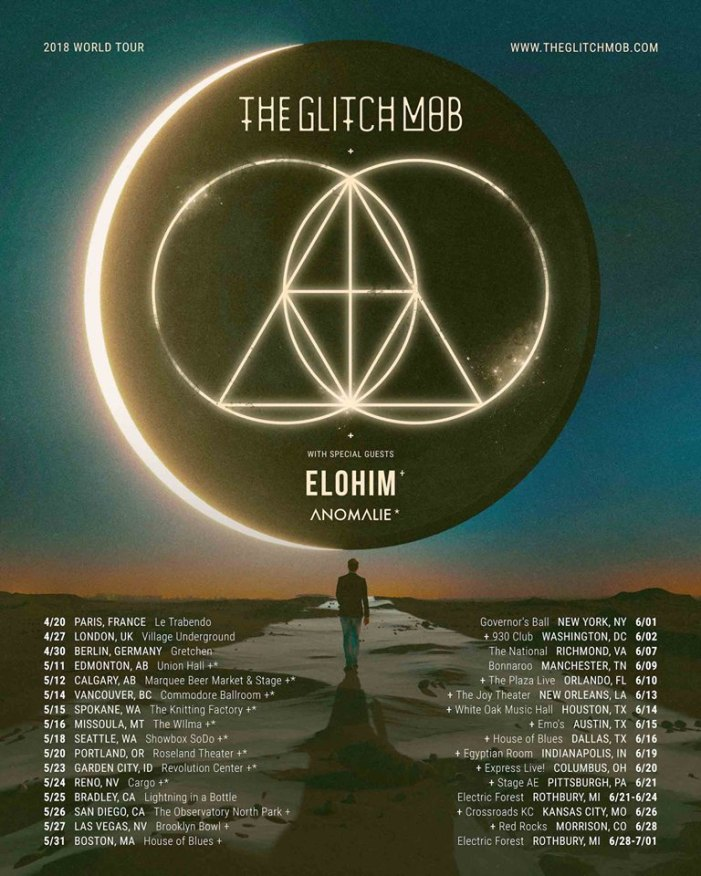 The Glitch Mob 2018 World Tour Schedule Poster
