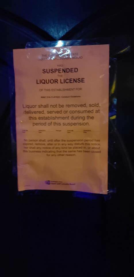 foundation liquor license suspended