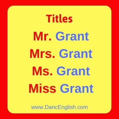 los titulos en ingles (titles)