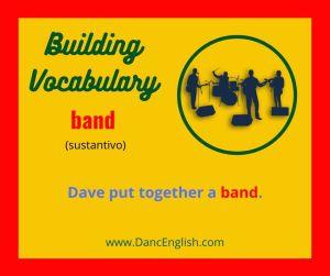 significado del sustantivo colectivo band del ingles
