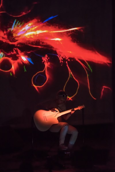 """Kaki King playing guitar, performing music from her album """"The Neck Is A Bridge To The Body"""""""
