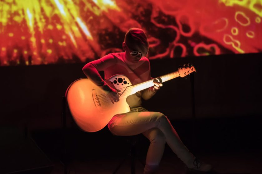 "Kaki King playing guitar, performing music from her album ""The Neck Is A Bridge To The Body"""