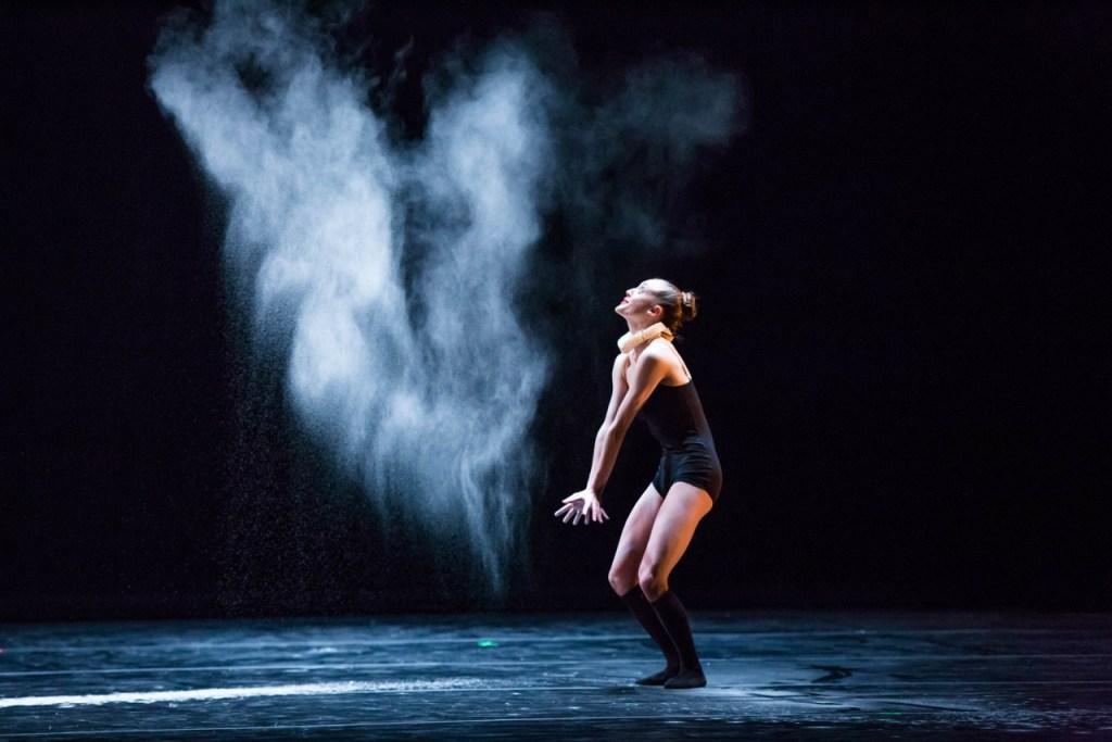 Noelle Kayser of Visceral Dance Chicago in 'Ruff Celts'. Photo by Cheryl Mann