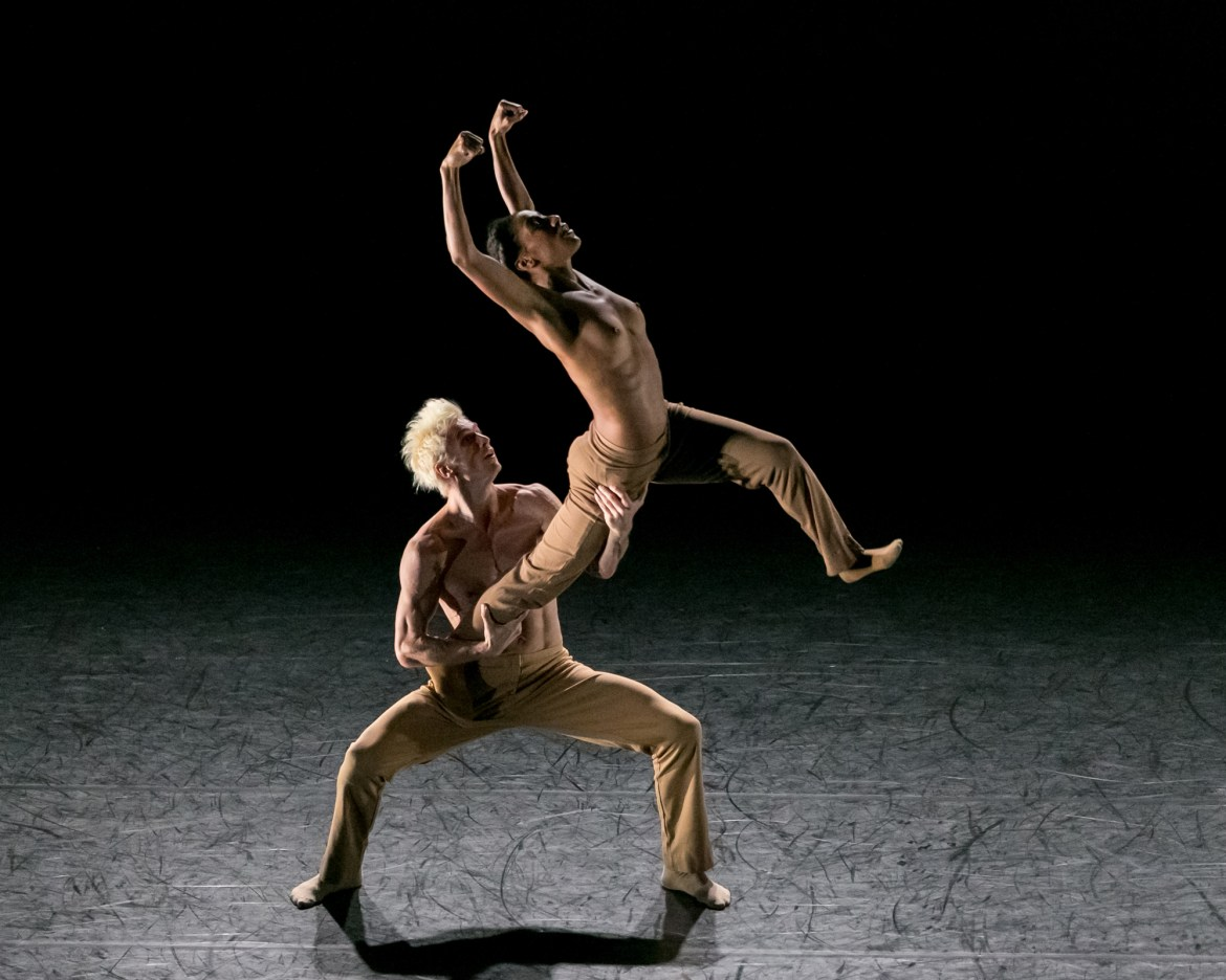 "Rena Butler and Manuel Vignoulle in ""Black & White"" (Photo by Sharon Bradford)"