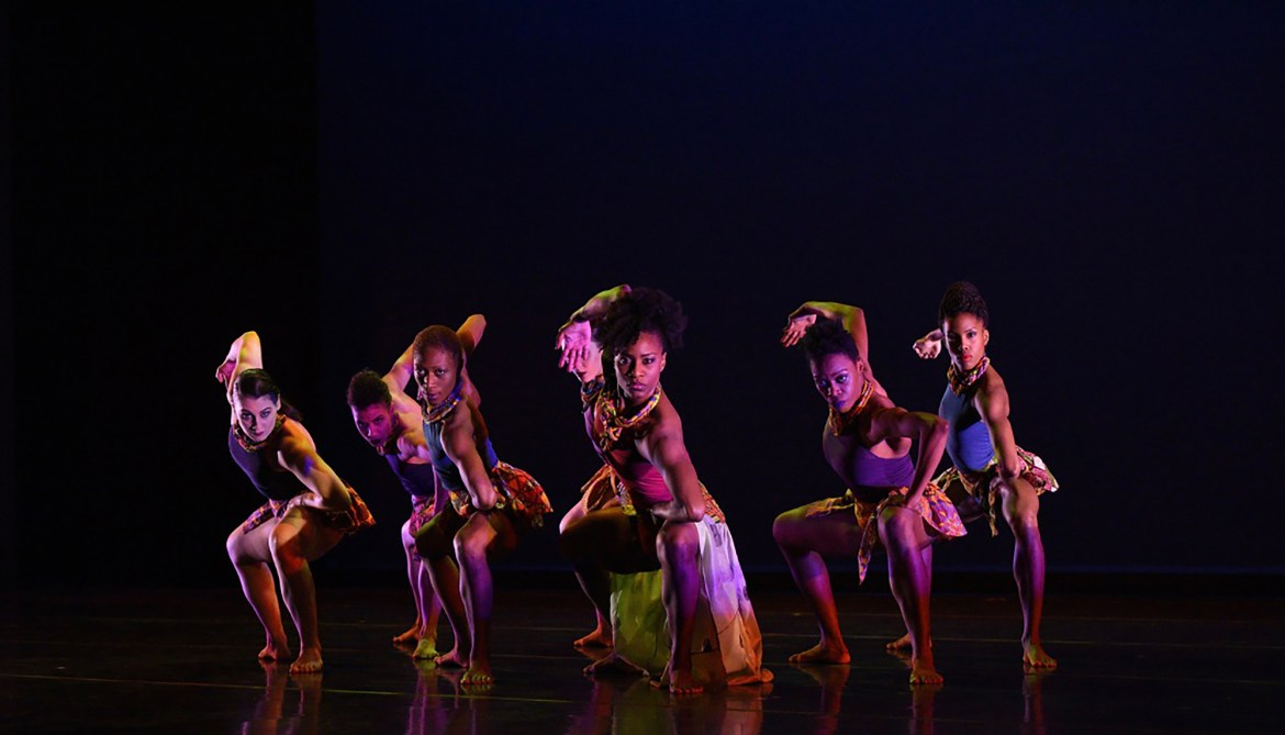 "Deeply Rooted Dance Theater in Nicole Clarke-Springer's ""Femme"" (Photo by Ken Carl)"