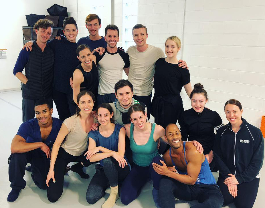 Taylor Mitchell (center) and The Big Muddy Dance Company (Photo courtesy of Taylor Mitchell)