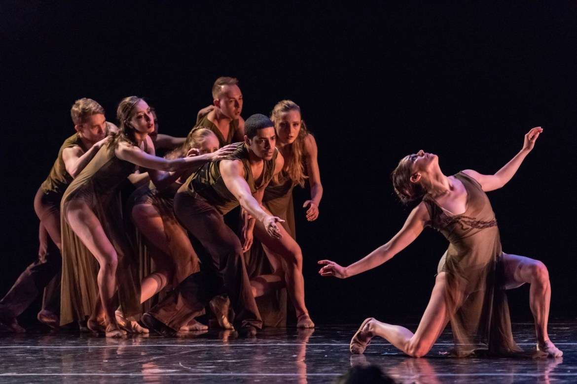 Chicago Repertory Ballet's Jacqueline Stewart and Company (Photo by Topher Alexander)