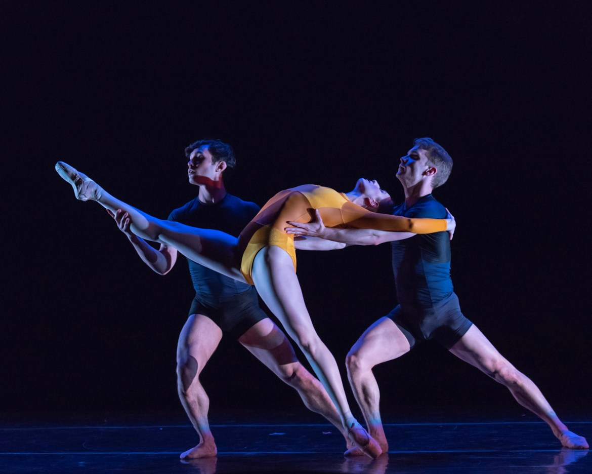 Chicago Repertory Ballet's Michelle Meltzer, Marco Clemente, Django Allegretti (Photo by Topher Alexander)